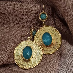 Handcrafted Gold-plated Earrings
